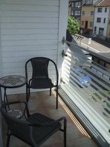 Balkon nachmittags im Schatten